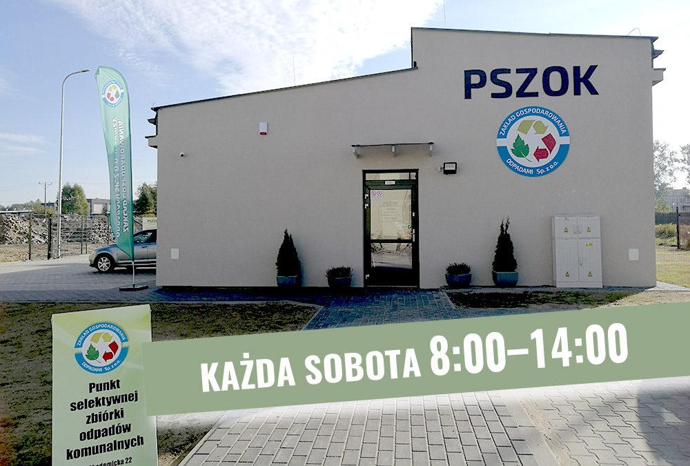 Punkt Selektywnej Zbiórki Odpadów Komunalnych przy ul. Akademickiej 22 w Łomży od 4 maja 2019r. Będzie czynny w każdą sobotę w godz. 8:00 – 14:00