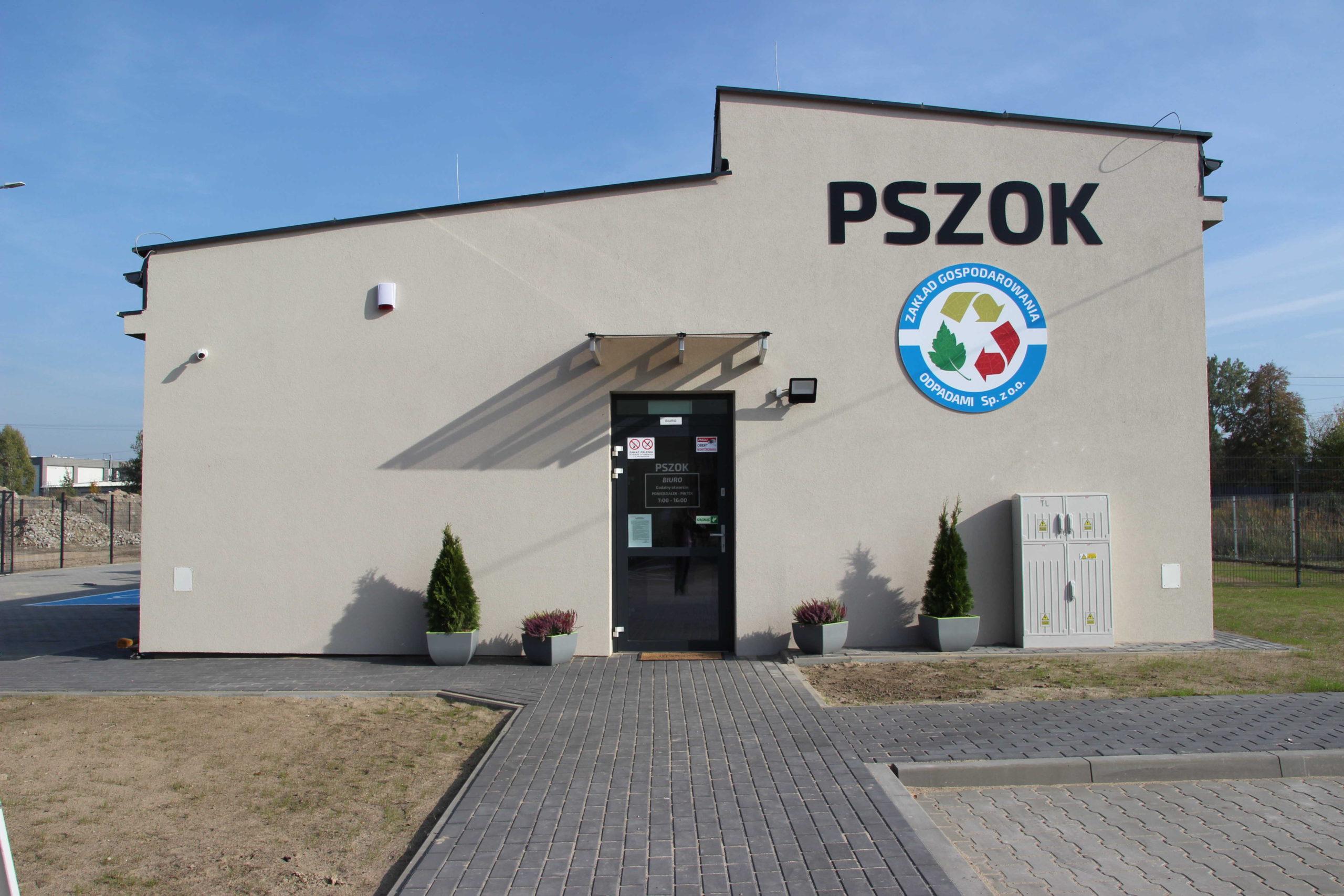 Budynek Punktu Selektywnej Zbiórki Odpadów Komunalnych