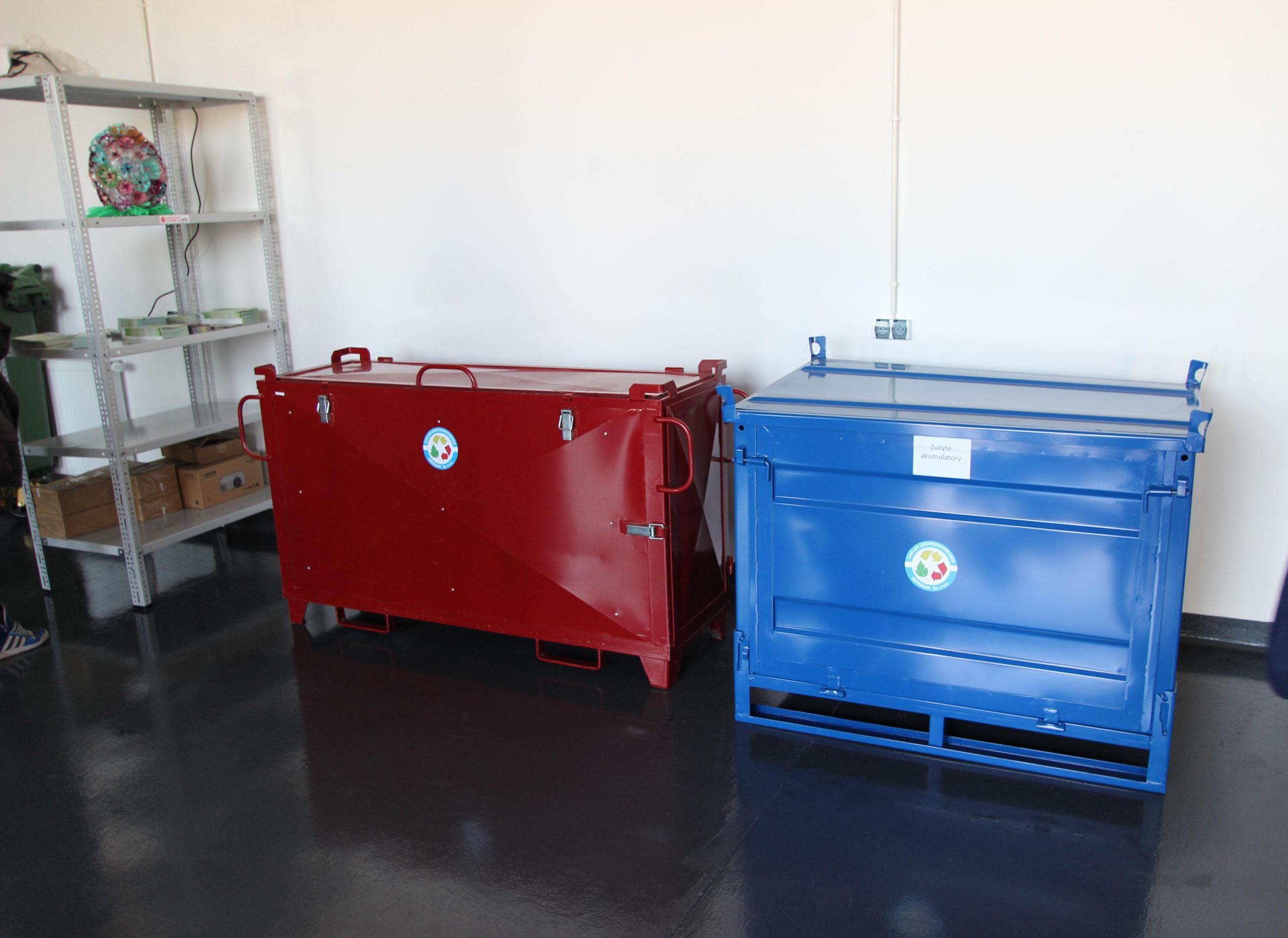 Pojemniki na zużyte akumulatory na terenie PSZOK