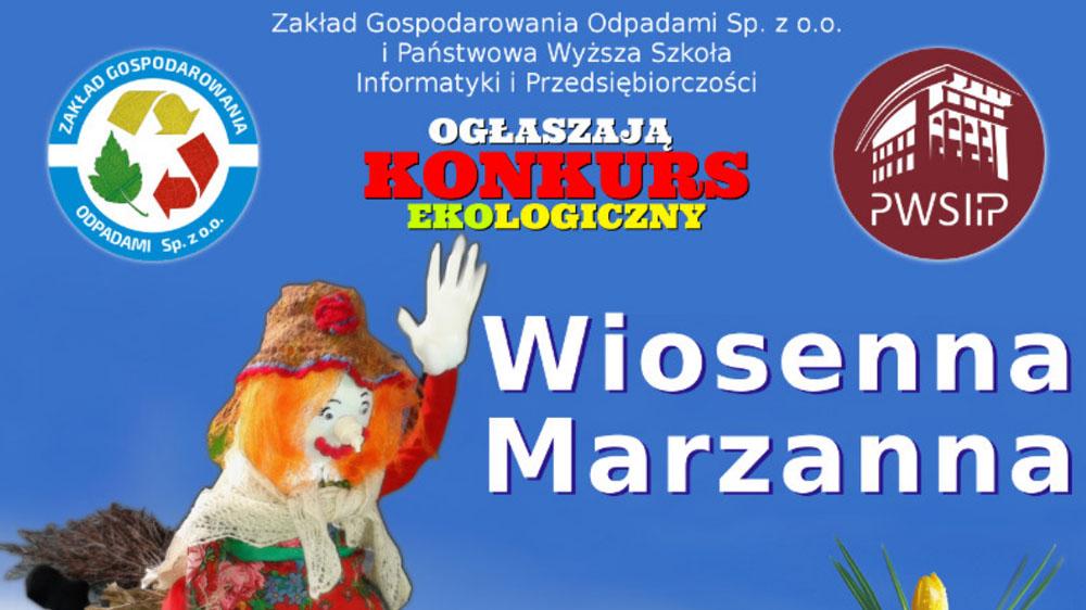"""Konkurs ekologiczny """"Wiosenna marzanna"""""""